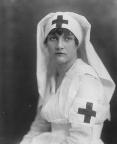 The American Red Cross was founded on May 21. 1881. Red Cross nurse, circa 1920