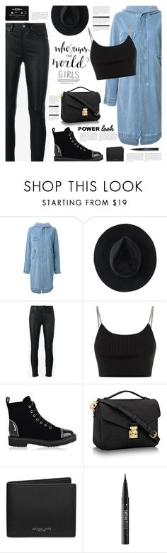 """p o w e r l o o k"" by earendil-xx ❤ liked on Polyvore featuring Mr & Mrs Italy, Ryan Roche, Yves Saint Laurent, Alexander Wang, Giuseppe Zanotti, BoConcept, Michael Kors, Kat Von D, girlpower and powerlook"