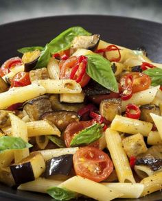 Low FODMAP Vegetarian Recipe and Gluten Free Recipe - Eggplant & chili penne http://www.ibscuro.com/low_fodmap_vegetarian_recipes_eggplant_chili_penne.html