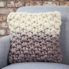 Dittisham Dip Dyed Panel Cushion - on trend: ombre
