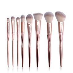 Kanzd Make Up Set Kit Foundation Eyebrow Eyeliner Blush Makeup Brushes Cosmetic Concealer Brushes (Gold) * Continue to the product at the image link. (This is an affiliate link and I receive a commission for the sales) Eye Makeup Brushes, Contour Makeup, Makeup Tools, Face Brushes, Contour Eyeshadow, Beauty Brushes, Eyebrow Makeup, Hair Makeup, Metallic Makeup