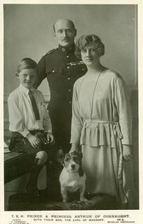 Prince Arthur and Princess Alexandra of Connaught with their only child, Alastair, Earl of MacDuff and 2nd Duke of Connaught.
