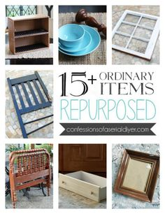 Ordinary Items Repurposed Do you love a good repurpose like I do? I seriously love to see things brought back to life in new ways. Hey there, amazing Friends! Today I am rounding up ordinary items that I have repurposed in a new way. Upcycled Home Decor, Repurposed Items, Upcycled Crafts, Repurposed Furniture, Diy Home Decor, Diy Furniture Repurpose, Refurbished Furniture, Modern Furniture, Furniture Design