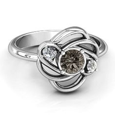 Multi Stone Love Knot Mother's Ring #jewlr