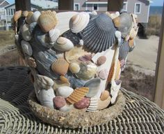 Sea Shell Planter by NagsHeadLiving on Etsy
