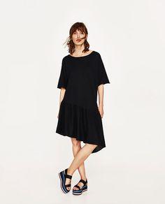 Image 1 of DRESS WITH ASYMMETRIC RUFFLE from Zara