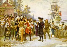 The Landing Of William Penn  by Jean Leon Gerome Ferris kp