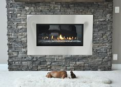 Stone Fireplace Renovation - modern - living room - dc metro - Domain Design