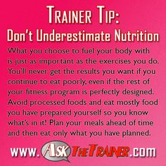 I couldn't have said it better myself.   #fitness #nutrition #tips