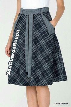Skirt Outfits, Dress Skirt, Cool Outfits, Midi Skirt, Modest Fashion, Fashion Dresses, Checkered Skirt, Inka, Plaid Skirts