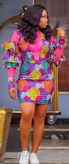 The complete pictures of latest ankara short gown styles of 2018 you've been searching for. These short ankara gown styles of 2018 are beautiful Best African Dresses, African Print Dresses, African Print Fashion, African Attire, African Fashion Dresses, African Wear, African Women, Fashion Outfits, Ankara Fashion