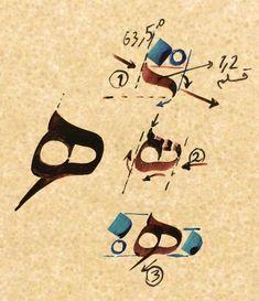 Calligraphy Lessons, Arabic Calligraphy Design, Arabic Calligraphy Art, Arabic Art, Calligraphy Alphabet, Alphabet Images, Iranian Art, Graffiti Alphabet, Typography Art