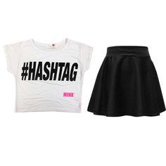 Kids Girls # No Fiilter Print Crop Top & Stylish Fashion Skater Skirt Set Kids Outfits Girls, Cute Girl Outfits, Cute Outfits For Kids, Kids Girls, Outfits Niños, Crop Top Outfits, Fashion Outfits, Crop Top Styles, Tween Fashion