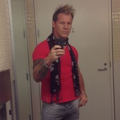 "Ready to rock this press day in TORONTO to talk all about ""BUT I'M CHRIS JERICHO"" which is LIVE at butimchrisjericho.com Watch the first two episodes Sausage And Eggs"