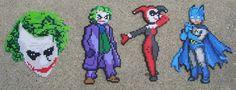 Perler beads harley and the joker