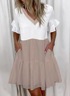 Ruffle Dress, Dress Skirt, Ruffles, Tunic Dresses, Mommy Daughter Dresses, Vestido Casual, Chic Outfits, Dresses Online, Fashion Dresses