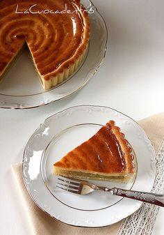 Crostata alla composta di mele verdi, miele e vaniglia - La Cuoca Dentro