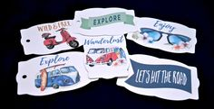 6  Assorted Wanderlust Gift Tags, Traveller, Travel, Journey, Voyage, Trip, Wanderlust, Wanderer, Holiday, Wild and Free, Explore, Explorer by TheArtOfCreativityCo on Etsy Purchase Card, Wild And Free, Gift Tags, Wanderlust, Journey, Explore, Store, Handmade Gifts, Creative