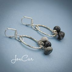 Black and Silver Dangling Earrings $16 http://lareve.joncarjewelry.com/ https://www.facebook.com/lareve.joncarjewelry