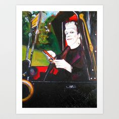 The Munsters Herman Munster Art Print by Christopher Chouinard - $20.00