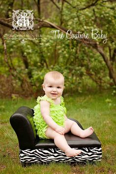 Lime Green Petti Romper from The Couture Baby