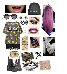 """""""No Drama+Pizza=Happiness"""" by shaila5853 on Polyvore featuring Snash Jewelry, David Yurman, City Chic, King Baby Studio, Bling Jewelry, Topshop, Acne Studios, Dr. Martens, Robert Lee Morris and BKE"""