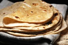 Chapati, also known as Roti - An unleavened whole wheat Indian flatbread. Perfect for scooping up delicious Indian curry.