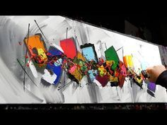 Abstract Painting Demo Acrylics using brush, knife - Milium - John Beckley - YouTube
