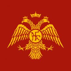 Emblem of the Palaiologos Dynasty. The double-headed eagle motif was used as the emblem of the Eastern Roman Empire (Byzantine Empire) during the and centuries Ancient Rome, Ancient History, Greek History, Double Headed Eagle, Empire Romain, Holy Roman Empire, Orient, Dark Ages, Lund