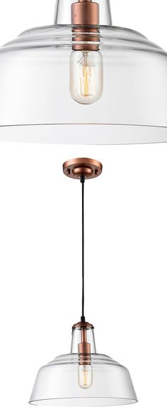 Warm your entryway or dining space with this stunning pendant light. Sleekly designed with a wide glass shade and subtle copper-finished steel accents, this Alexander Pendant Light boasts a cool, clean...  Find the Alexander Pendant Light, as seen in the Styles We LOVE: Mid-Century Collection at http://dotandbo.com/collections/styles-we-love-mid-century?utm_source=pinterest&utm_medium=organic&db_sku=114785