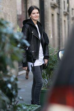 Kaitlin & her hoodie et al #offduty in Milan. #KaitlinAas
