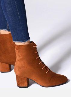 635ab4fee37 Bottines et boots I Love Shoes MCPOPIN Marron  bottines boots daim  bootsmarron