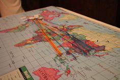 journeys collide map @ Journeys Collide Vox Fundraiser