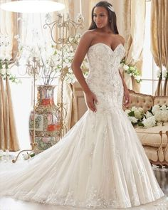 Crystal Mermaid Wedding Dress at Bling Brides Bouquet- Online Bridal Store