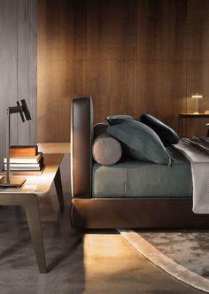 Minotti Bedford bed Design: Rodolfo Dordoni