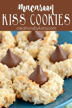 Kiss Cookie Recipe, Kiss Cookies, Sugar Cookies Recipe, Biscuit Recipe, Yummy Cookies, Macaroon Cookies, Delicious Cookie Recipes, Best Cookie Recipes, Dessert Recipes