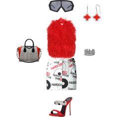 #redFox by atlienfashioned on Polyvore featuring polyvore, fashion, style, Yves Saint Laurent, Christian Dior, Giuseppe Zanotti, Givenchy, David Yurman and Kokon To Zai