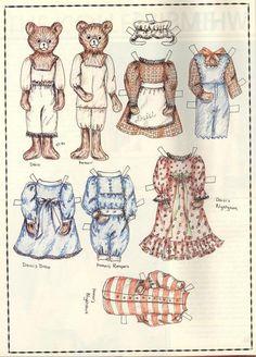 Bear Paper Dolls_Doll World Mag_Spring1985