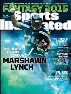 Seahawks #Lynch #Beastmode - They have a whole issue devoted to Fantasy football? Crrraazzzyyy