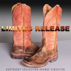 GET DOWN. New BootDaddy Collection with Anderson Bean Orange Sinsation Cowboy Boots #therealbootlife