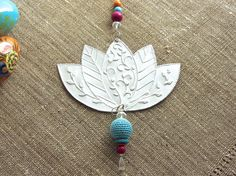 Lotus Flower Art Metal Work Eclectic Decor Hanging by FoilingStar: would make a beautiful embroidery pattern.