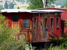 Caboose, Nevada City, Montana, via Flickr.