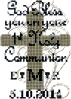 A personal favorite from my Etsy shop https://www.etsy.com/listing/189697405/modern-cross-stitch-first-holy-communion