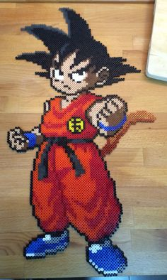 Hama beads Goku niño - Visit now for 3D Dragon Ball Z compression shirts now on sale! #dragonball #dbz #dragonballsupe