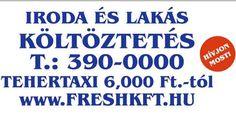 Fuvarozás, tehertaxi, szállítás, költöztetés. T.:061 390-0000