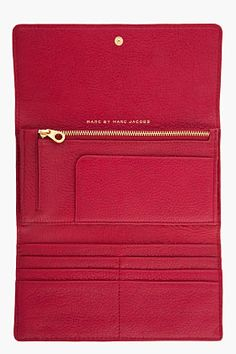 MARC BY MARC JACOBS burgundy Too Hot to Handle Long Trifold  182$