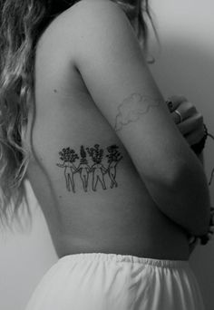 Foot Tattoos, Body Art Tattoos, Sleeve Tattoos, Girl Rib Tattoos, Flower Tattoos, Tatoos, Cloud Tattoos, Sternum Tattoos, Music Tattoos