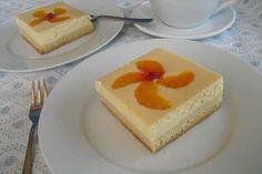 Blitz - Käsekuchen mit Mandarinen vom Blech