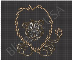 Lion Rhinestone Pattern Download File