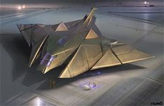 Concept spaceship art from NURO